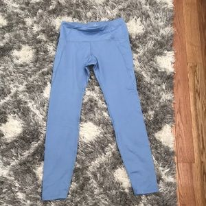 Blue Fleece Lined Leggings